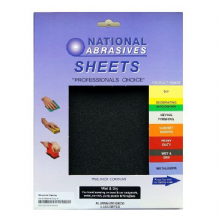 Pack of 4 Wet and Dry Aluminium Oxide Sandpaper Sheets